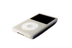 Mp3 player. A grey mp3 player isolated on a white background Royalty Free Stock Photo