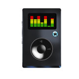 Mp3 player. Mp3 newest futured player with eqalizer stock illustration