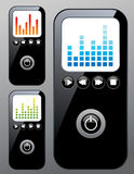 Mp3 player. A cool looking mp3 player. 3 different setups stock illustration