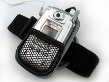 Mp3 player armband Stock Photos