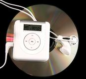 MP3 player and CD Royalty Free Stock Image
