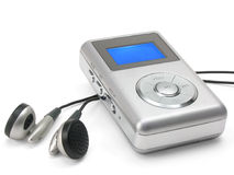Mp3 player with clipping path. Generic mp3 player on white background (clipping path included Stock Images