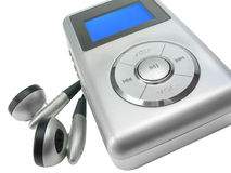 Mp3 player with clipping path. Generic mp3 player on white background with clipping path included (unbranded device, no trademarks or logos had been removed Royalty Free Stock Image