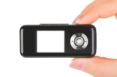 Mp3 player in hand Royalty Free Stock Images