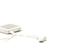 MP3 player with headphones Royalty Free Stock Photo