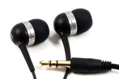 MP3 player headphones Royalty Free Stock Photos