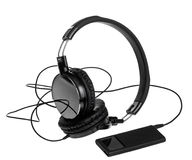 Mp3 player with headphones Stock Image