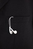 MP3 player headphones Royalty Free Stock Images