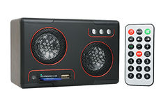 MP3-player mit Karteleser und USB Lizenzfreie Stockbilder
