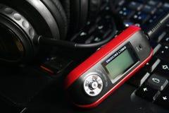 MP3-Player mit Kopfhörern Lizenzfreies Stockfoto