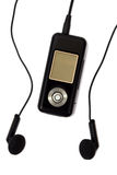 MP3-Player und Kopfhörer Stockfoto