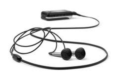 MP3-Player und Kopfhörer Stockfotos