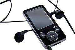 MP3-Player und Kopfhörer Stockbilder