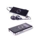 Mp3 players. Two modern mp3-player on isolated white Royalty Free Stock Photography
