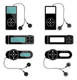 Mp3 players icons Stock Photos
