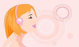 Mp3 pleasure Royalty Free Stock Image