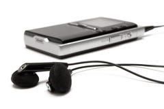 MP3 speler met Oortelefoons Royalty-vrije Stock Foto's