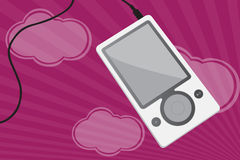 Mp3 spelervector Stock Foto