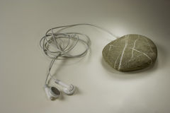 Mp3 stone Stock Photo