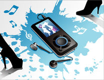 Mp3 vector composition Royalty Free Stock Photo