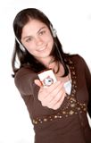 Mp3 on your mobile phone Stock Photos