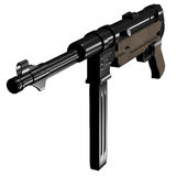 MP40 Submachine gun. Illustration from online game In Nomine Credimus Stock Photography