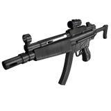 枪mp5 submachine 免版税库存照片