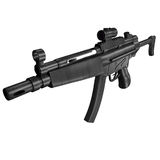 MP5 Submachine gun. Illustration from online game In Nomine Credimus Royalty Free Stock Photo