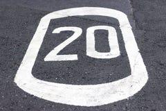 20 MPH Lizenzfreie Stockbilder