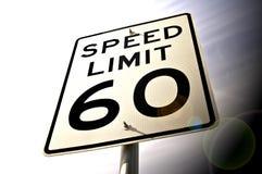 60 mph Royaltyfri Bild
