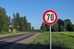 60 mph Arkivbild
