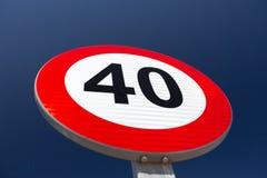 60 mph Fotografia Stock Libera da Diritti