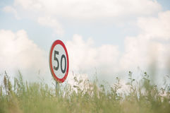 60 mph Foto de Stock Royalty Free