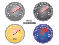 Mph and kph speedometers Royalty Free Stock Photo