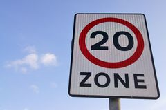 20mph speed sign Stock Images