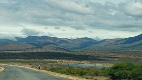 Mphogodiba Dam. Dam set below Mphogodiba Mountains in Polokwane, Limpopo Royalty Free Stock Photos
