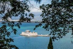 Mpourtzi-Schloss in Griechenland Stockbilder