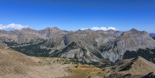 Landskap i Alps Arkivfoto