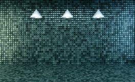 Mpty bathroom with mosaic tiles. 3d Illustration, Empty bathroom with mosaic tiles on wall and floor vector illustration