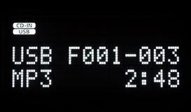 Mpv-Auto-Audio-Bildschirm Stockfoto