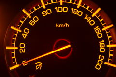 Mpv Car Speedometer. Example display speedometer on a mpv car when the engine starts Stock Photo
