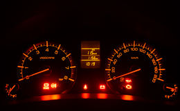 Mpv Car Speedometer. Example display speedometer on a mpv car when the engine starts Stock Photos