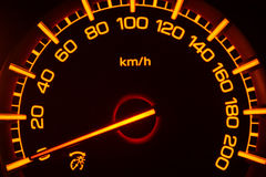 Mpv Car Speedometer. Example display speedometer on a mpv car when the engine starts Royalty Free Stock Photos