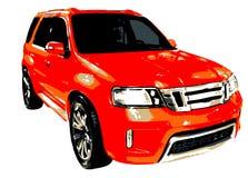 MPV multi Zweck-Fahrzeug-Abbildung Lizenzfreie Stockfotografie