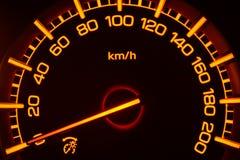 Mpv samochodu szybkościomierz zdjęcia royalty free