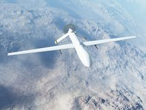 Mq-1 roofdier tijdens de vlucht Royalty-vrije Stock Fotografie
