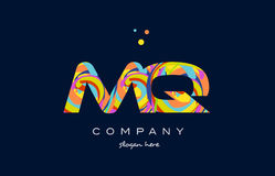 Mq m q colorful alphabet letter logo icon template vector Royalty Free Stock Images