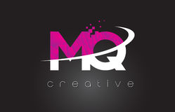 MQ M Q Creative Letters Design With White Pink Colors Royalty Free Stock Images