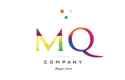 Mq m q  creative rainbow colors alphabet letter logo icon Stock Photo