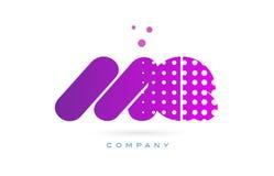 Mq m q pink dots letter logo alphabet icon Stock Photo